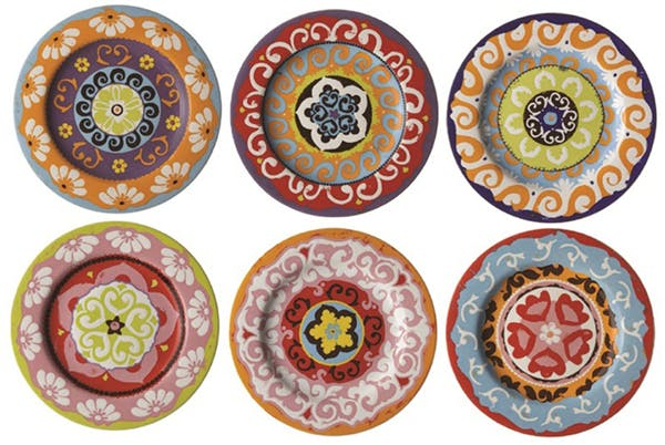 Nador set of 6 salad plates | Confetti.co.uk