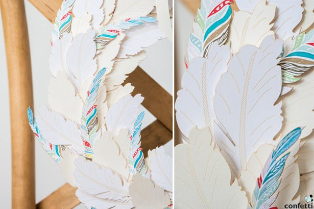 Bohemian Feather Chair Back   Confetti.co.uk