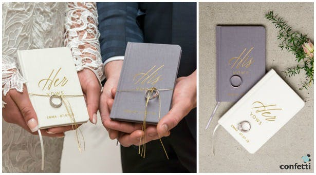Personalised ceremony vow books | Confetti.co.uk