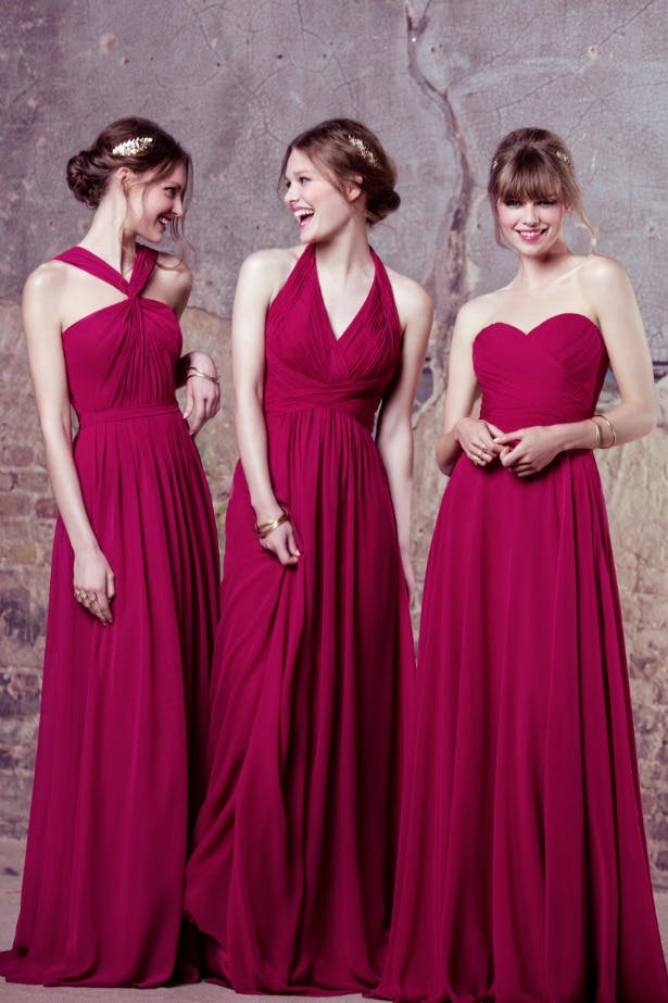 Kelsey Rose cerise pink bridesmaid dresses | Confetti.co.uk