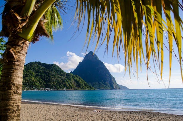 Soufriere St Lucia Tropical Sky wedding abroad and honeymoon in Caribbean | Confetti.co.uk