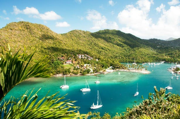 Tropical Sky wedding abroad and honeymoon in St Lucia Caribbean | Confetti.co.uk