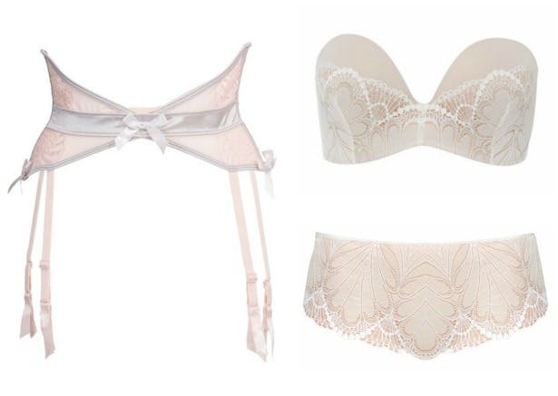 Bluebella Vivienne Suspenders and House of Fraser Wonderbra Glamour Ultimate strapless bra and shorts | Confetti.co.uk