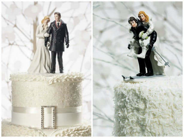Winter Wedding Decoration Cake Toppers | Confetti.co.uk