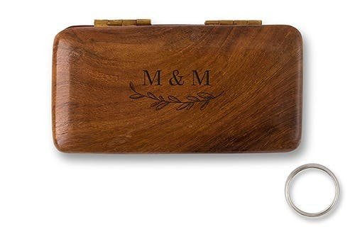 Personalised ring box with garland design | Confetti.co.uk
