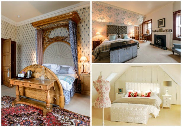 Luxury bedrooms at Ackergill Tower Scotland | Confetti.co.uk