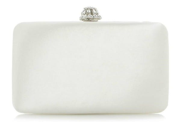 Bridley satin box bag clutch by Dune | Confetti.co.uk