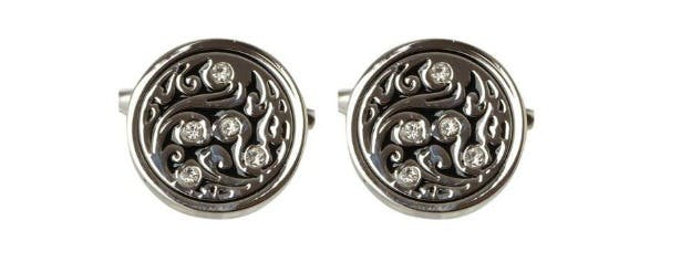Howick tailored circle crystal cufflinks | Confetti.co.uk