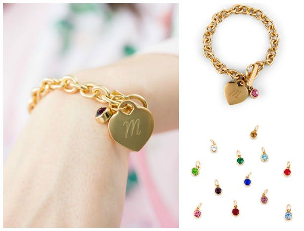 Charm bracelet with gemstone | Confetti.co.uk