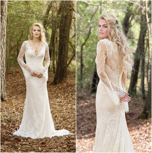 Bohemian Wedding Dress Front and Back by Lillian West | Confetti.co.uk