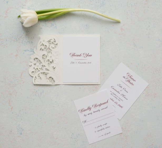 Laser Embossed Accessory Cards With Personalisation | Confetti.co.uk