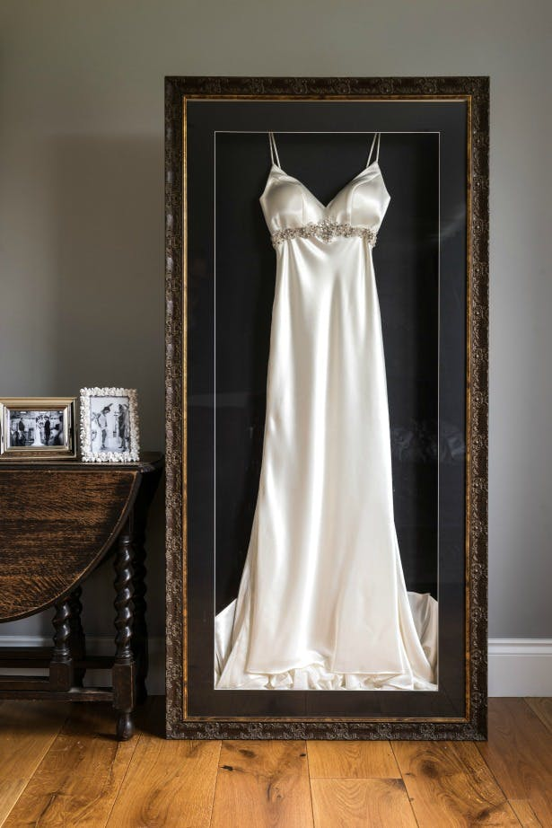 Framed wedding dress by the Beautiful Frame Company | Confetti.co.uk