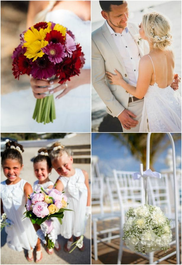 Wedding flowers in Ibiza by Ibiza Flower Shop | Confetti.co.uk