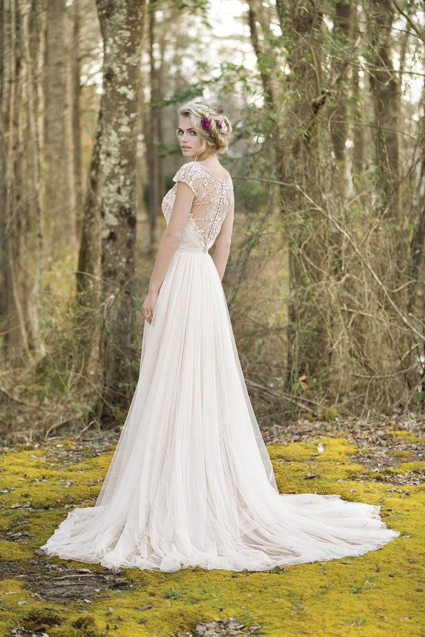 Bohemian Style Wedding Dress with Illusion Back by Lillian West | Confetti.co.uk