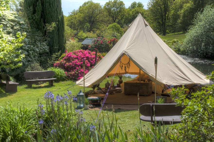 Boutique Camping Sandstone Bell Tent | Confetti.co.uk