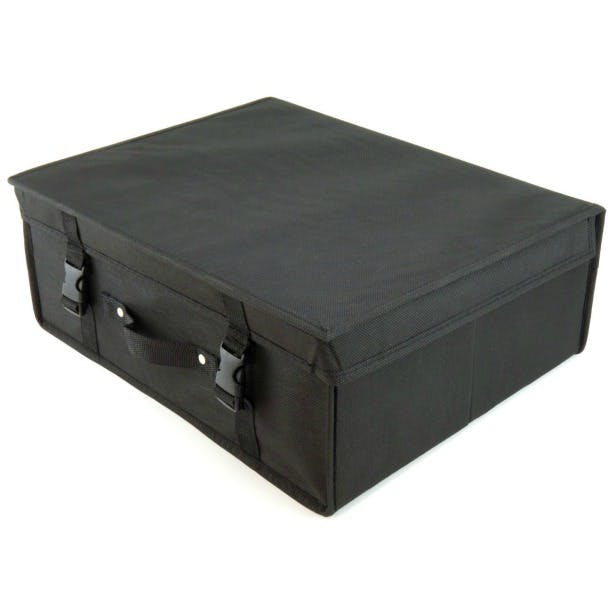 Black wedding dress storage box by Hangerworld | Confetti.co.uk