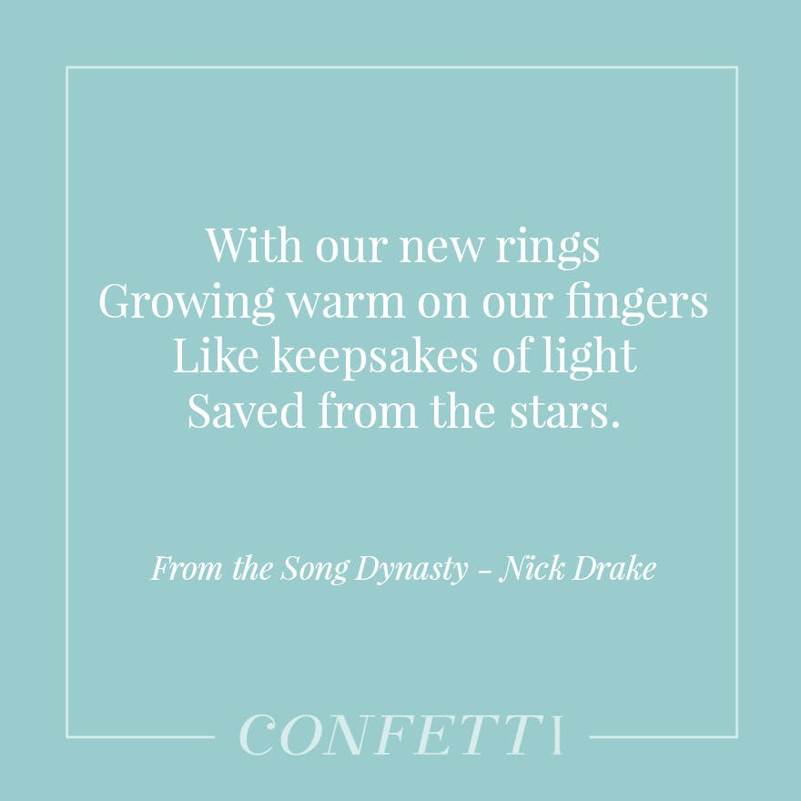 From the Song Dynasty by Nick Drake - Keepsakes of Light Saved From the Stars | Confetti.co.uk