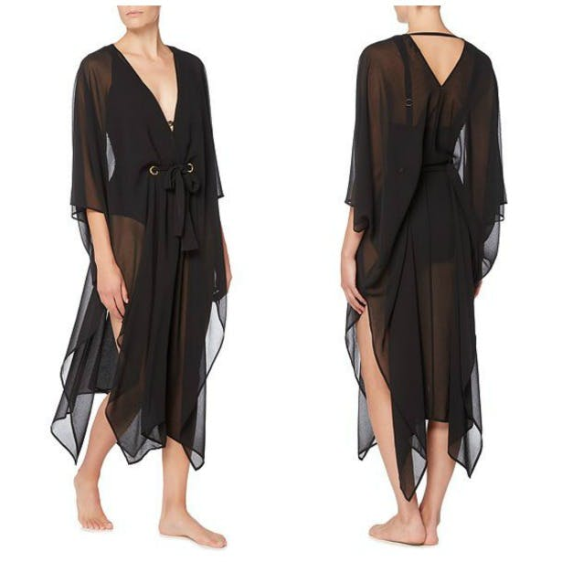 Black chiffon kaftan by Biba | Confetti.co.uk