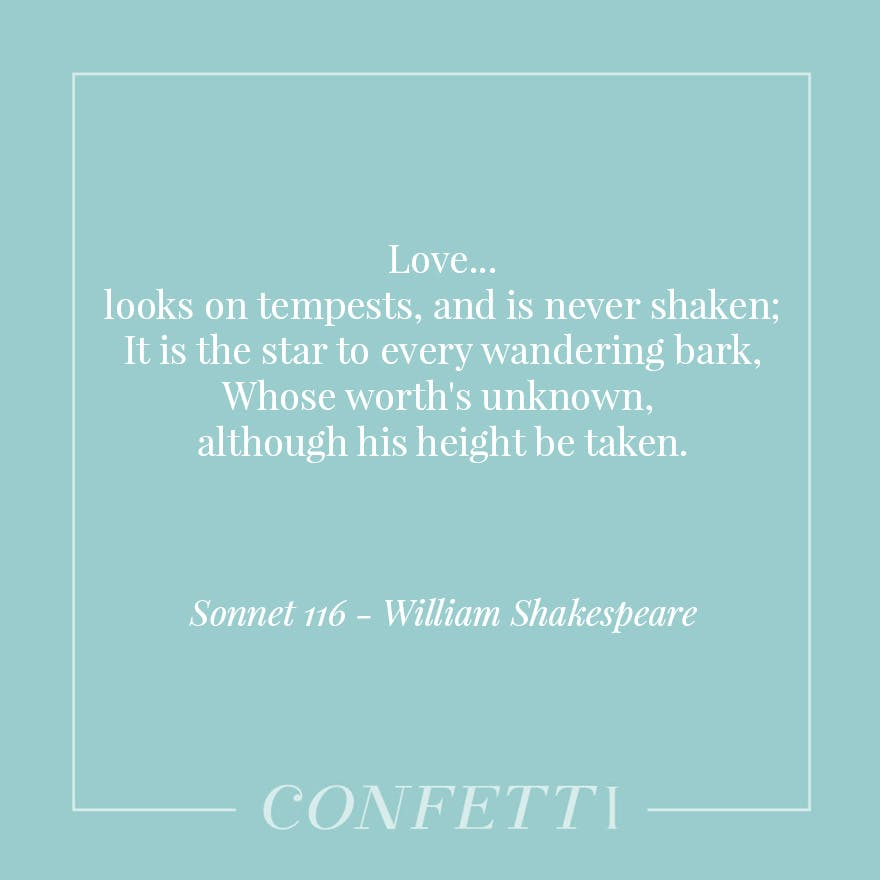 Sonnet 116 By William Shakespeare Love Looks On Tempests And Is Never Shaken The