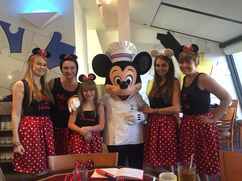 Fairytale Disney wedding breakfast with Mickey Mouse | Confetti.co.uk