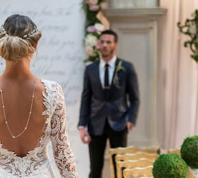 Alternative Unity Ceremony Ideas for Your Wedding - Modern Fairytale Bride in Lace Wedding Gown | Confetti.co.uk