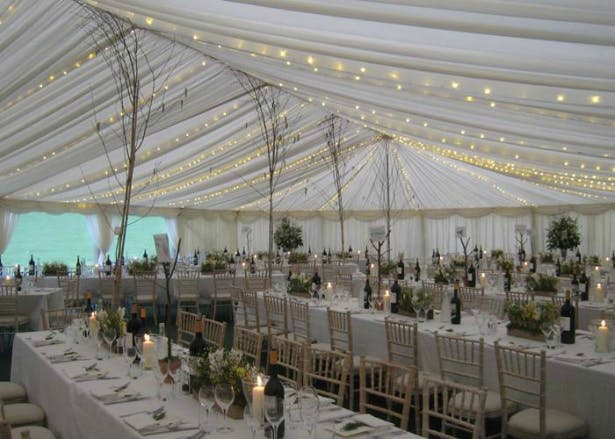 A Richardson Marquee Decorated With Delicate Fairy Lights | Confetti.co.uk