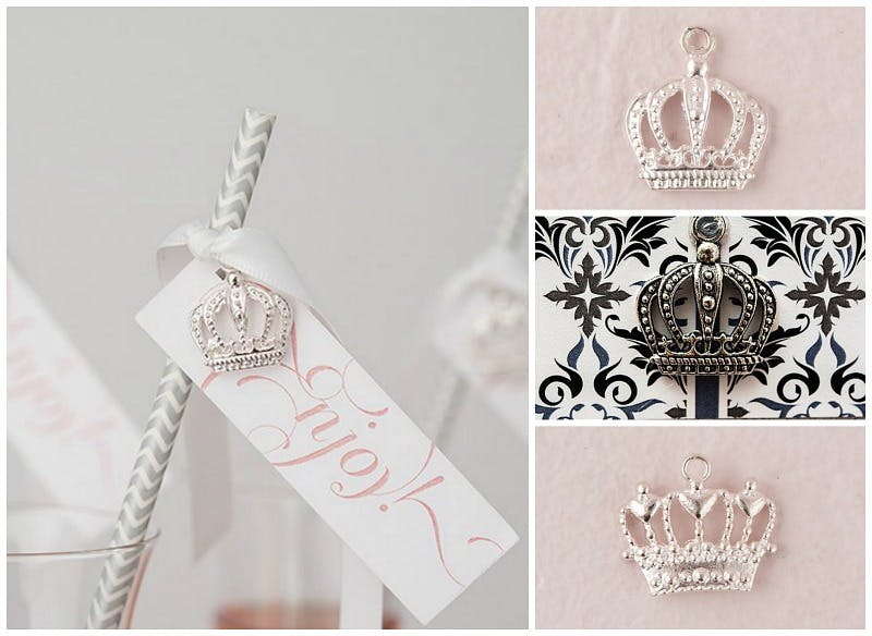 Fairytale royals crown charms | Confetti.co.uk