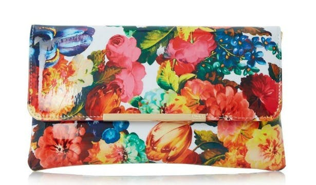 Floral print clutch bag by Dune   Confetti.co.uk