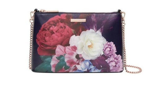 Narla blushing bouquet leather bag by Ted Baker   Confetti.co.uk