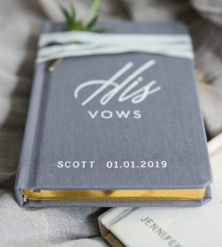 Personalised book of His Vows   Confetti.co.uk