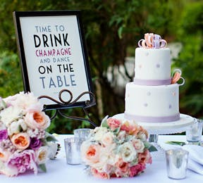 Champagne and Sparkles Wedding Table