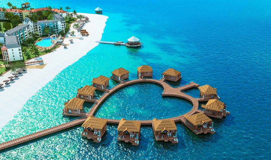 Sandals South Coast Jamaica Over-the-Water Bungalows | Confetti.co.uk