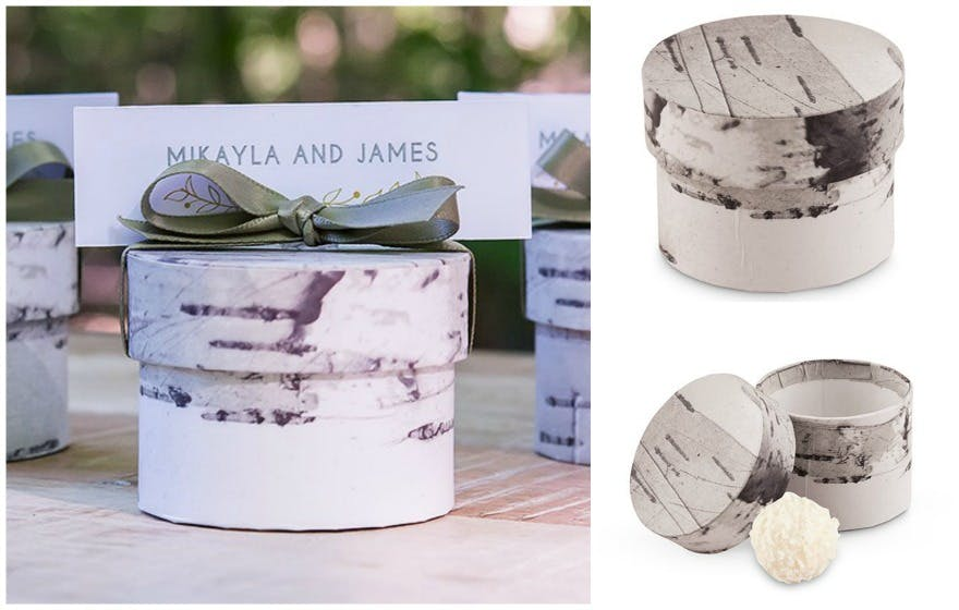 Birch circular favour box | Confetti.co.uk
