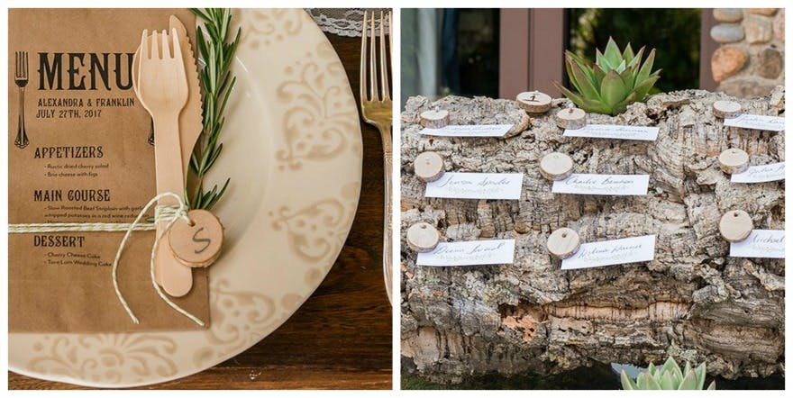 Woodland miniature natural birch wood circle slices | Confetti.co.uk