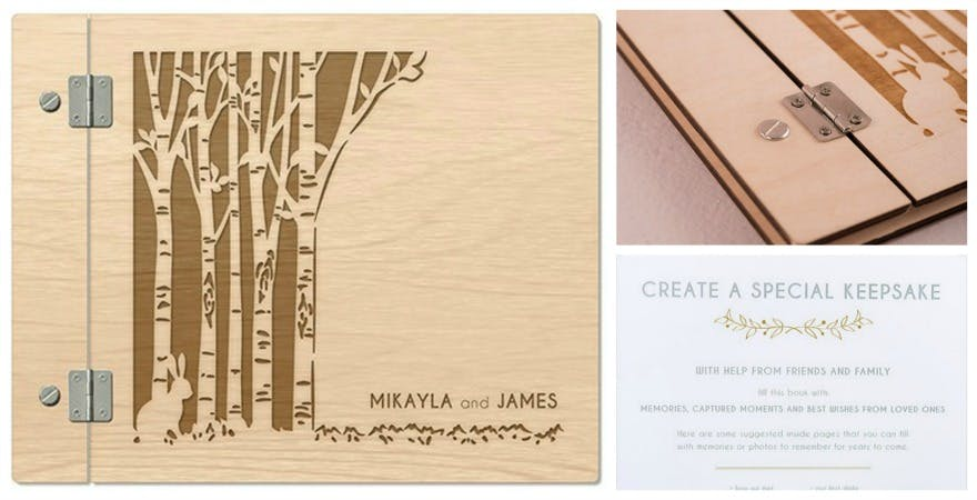 Woodland personalised guest book | Confetti.co.uk