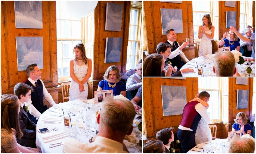 Bride giving a speech at her Soho City Wedding | Confetti.co.uk