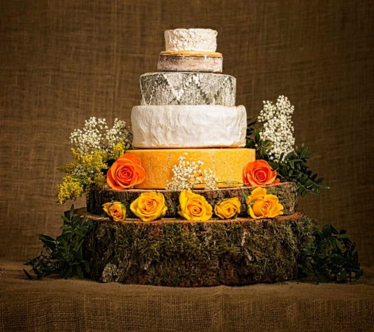 Cheese wedding cake by the Cotswold Cheese Company | Confetti.co.uk