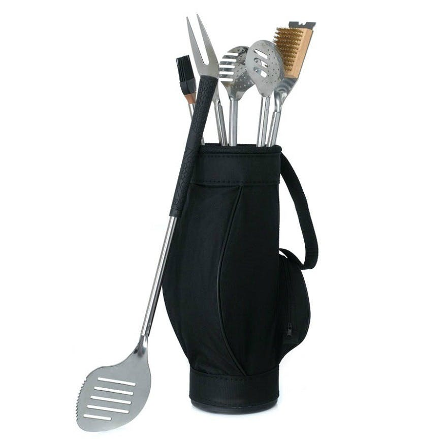 Father of the bride gifts Barbeque tools in golf bag   Confetti.co.uk