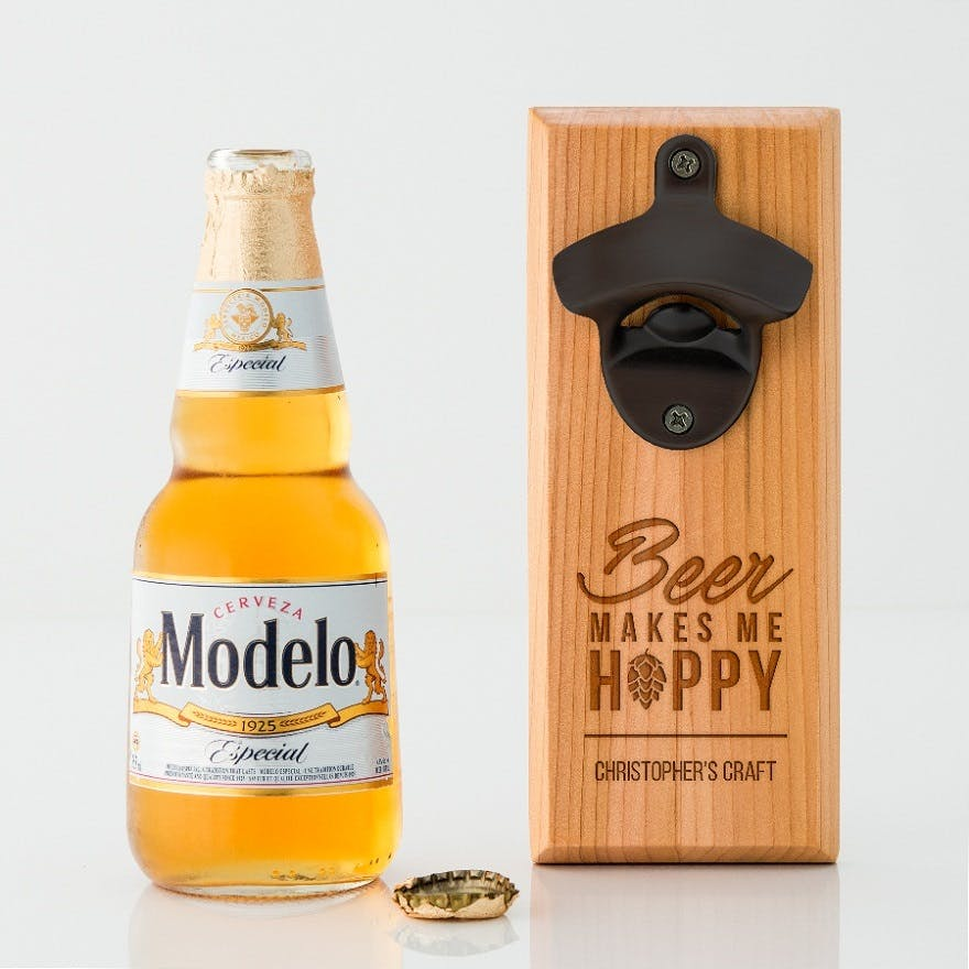 Father of the bride gifts wall mounted bottle opener   Confetti.co.uk