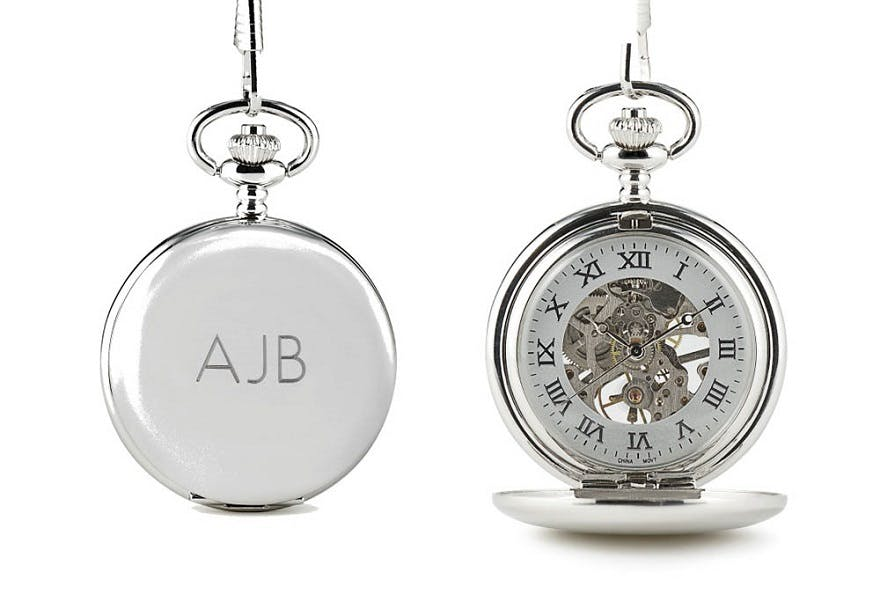 Father of the bride gifts mechanical pocket watch   Confetti.co.uk