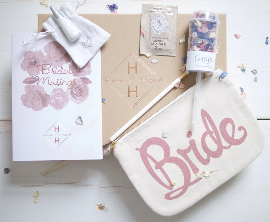 Hanson and Hopewell Engaged bride-to-be gift box | Confetti.co.uk