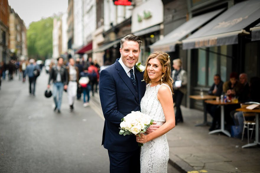 Andy & Laura Real Wedding Soho City wedding | Confetti.co.uk