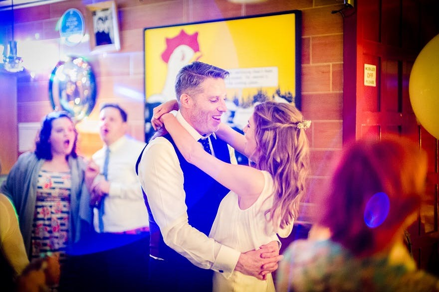 Bride and Groom first dance at soho city wedding | Confetti.co.uk