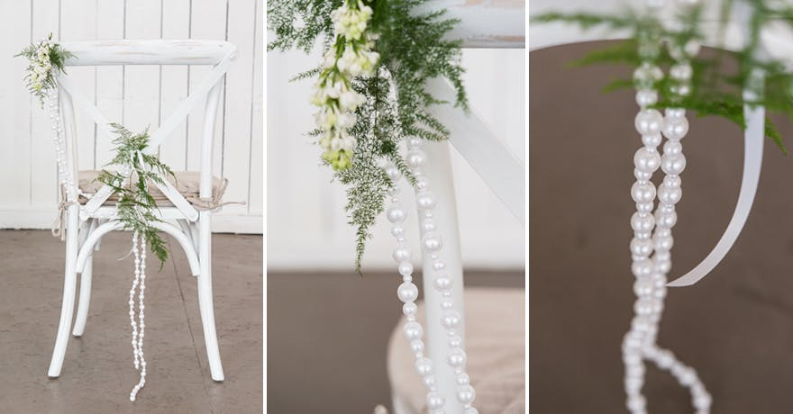 Rustic Glam Chair Decoration | Confetti.co.uk