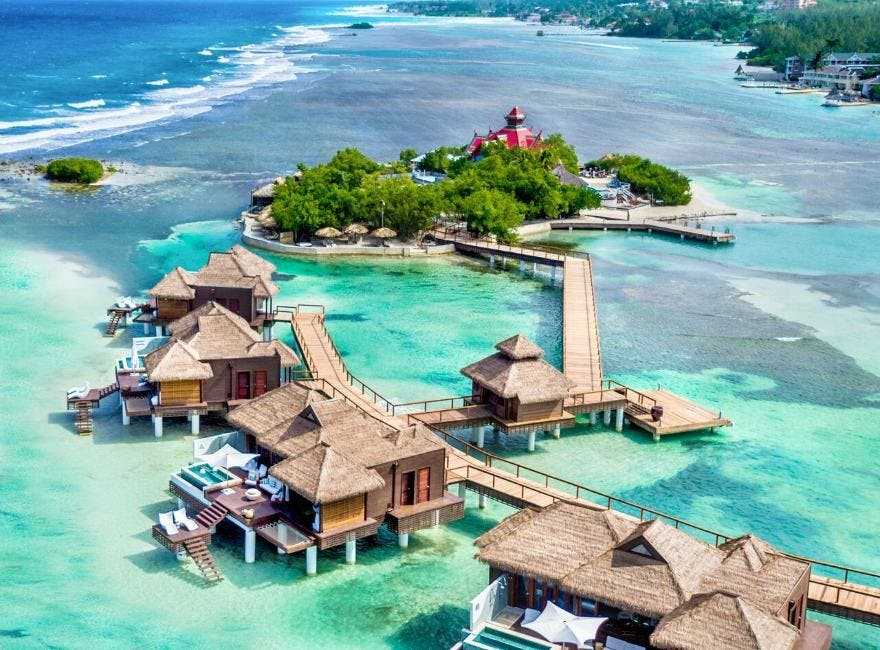 Over-the-Water villas and off-shore island at Sandals Royal Caribbean | Confetti.co.uk