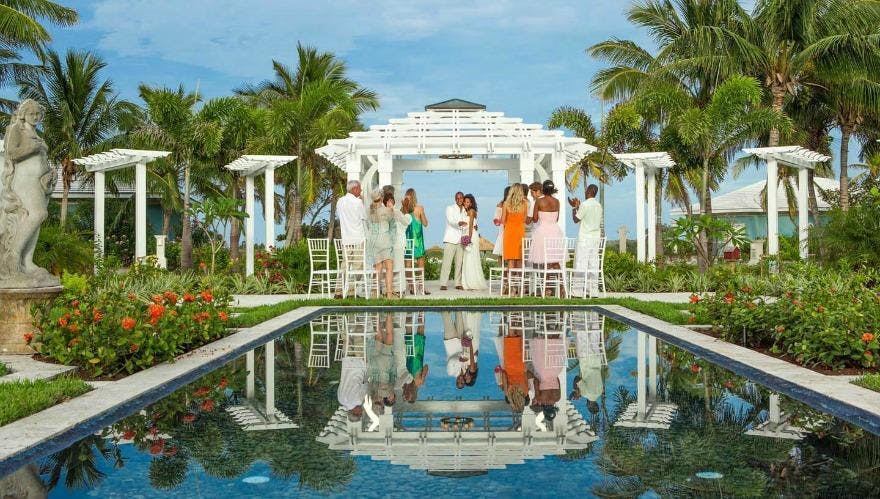 Wedding at Sandals Emerald Bay Bahamas | Confetti.co.uk