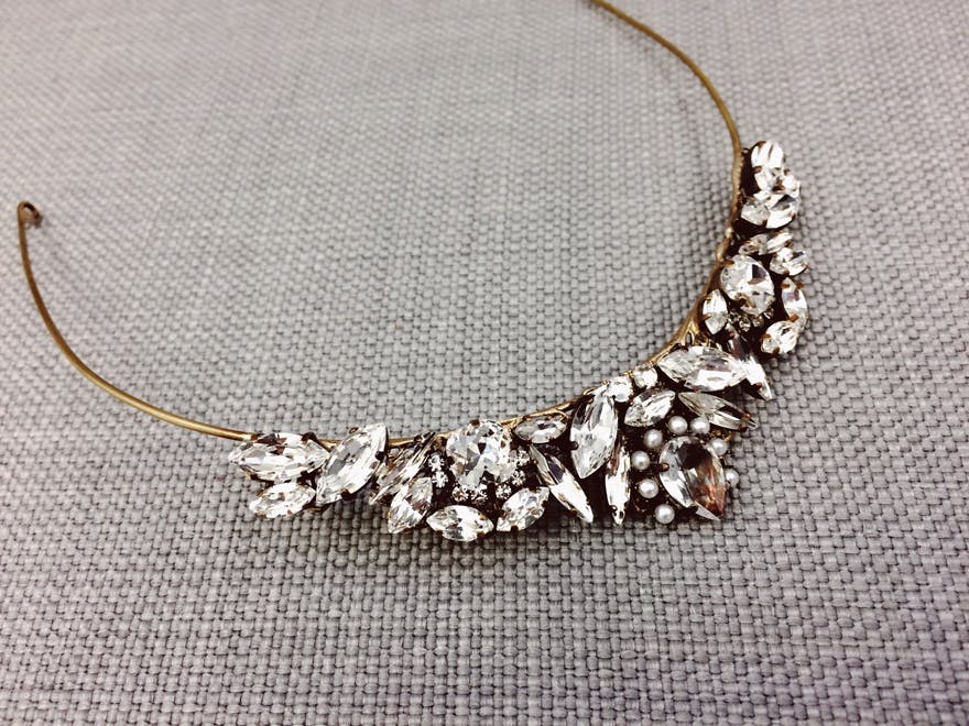 Gold and Jewels Wedding Tiara by Halo and Co - Beautiful Tiaras - Emma Tiara by Halo & Co | Confetti.co.uk