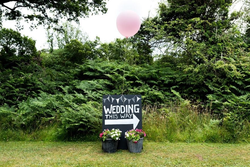 Wedding Sign at Careys Manor | Confetti.co.uk