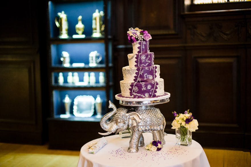 Saree cake on an elephant at Indian and English fusion wedding by Douglas Fry | Confetti.couk