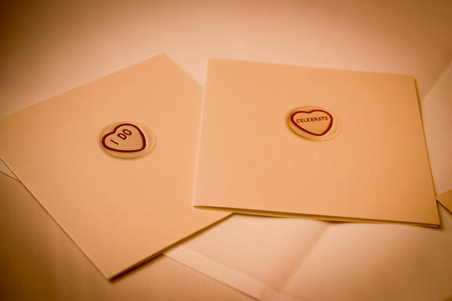 Candy Hearts with Messages Stationery Seals | Confetti.co.uk